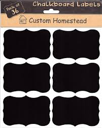 Kitchen Canister Labels Amazon Com 36 Large Fancy Rectangle Chalkboard Labels
