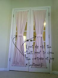 Curtains With Rods On Top And Bottom Diy Door Window Curtains Blinds Front Energoresurs
