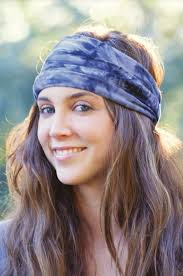 tie headbands boho bandeau green purple tie dye groovy s