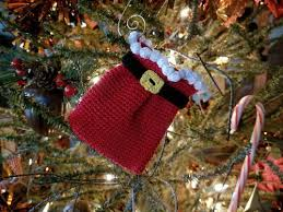 santa s sack ornament or gift card holder allfreecrochet