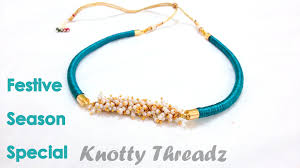how to make a silk thread necklace piped youtube