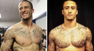 colin kaepernick shows off his post super bowl tattoos nfl com