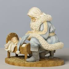 santa and baby jesus foundation kneeling santa with baby jesus by hahn 5 83