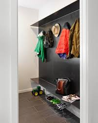 austin modern coat rack entry midcentury with steel accent wall