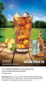 arizona spiced tea is a combination of captain morgan original