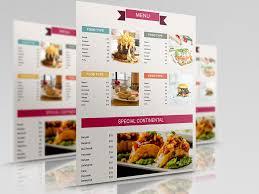 menu brochure template indian restaurant take out brochure