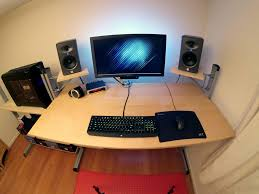 Standing Ikea Desk by Custom Ikea Standing Desk Wide Angle 2 Table Put Togethe U2026 Flickr