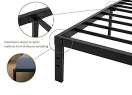 14 inches steel slat platform bed frame heavy duty and easy