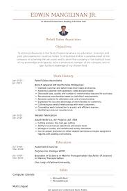 Example Of A Retail Resume by Sales Associates Resume Samples Visualcv Resume Samples Database