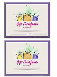 gift certificate template word certificates officecom powerpoint