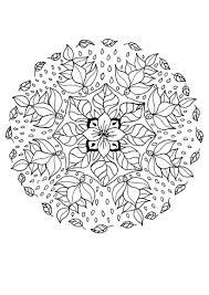 flower elf mandala coloring pages hellokids com