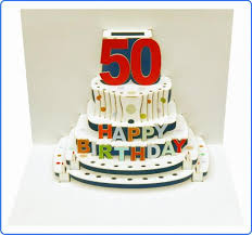 pop out birthday cards 50 happy birthday 50th pop up birthday card 4 99 a great