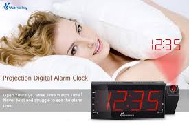 Clock That Shines Time On Ceiling by Amazon Com Vansky Digital Projection Alarm Clock Radio With