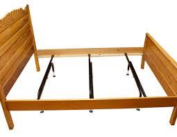 bed frame center support leg wooden railed bed frame metal support