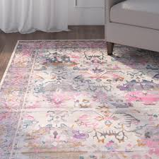 Pink Area Rug Charlena Pink Area Rug Reviews Joss