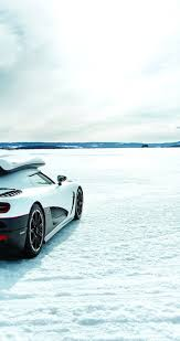 koenigsegg winter sport white car on the snow hd winter wallpaper