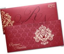 indian wedding card designs wedding card design golden floral rococo decoration