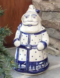 color palette polish pottery santa clause cookie jar aspen