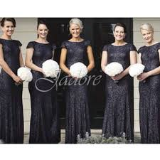 aliexpress com buy popular navy blue bridesmaid dresses sequined