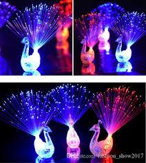 led light up rings 2018 new peacock finger light colorful led light up rings party
