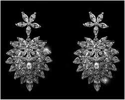 chandelier earring rhiana marquise cluster statement chandelier earring 8ct cubic