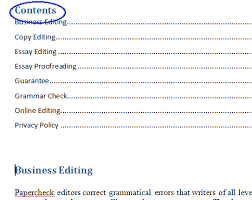 Create Table Of Contents In Word 2013 Microsoft Table Of Contents U2014 Word 2010