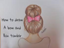 how to draw a bow u0026 bun hair youtube