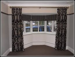 ceiling mount curtain rods for bay window curtains home