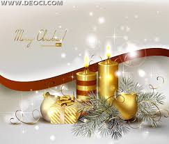 gold and silver background with christmas elements vector design