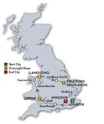 Lake District England Map by England Tours Escorted Tours Britain Cie Tours