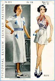 1930s sewing patterns dresses pants tops