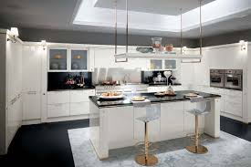 stunning italian kitchen design as one of great choices elegant italian kitchen design in white with decorative deciling unit combined with black countertop style for