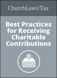 best practices for receiving charitable contributions donations