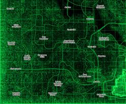 Fallout 2 World Map by Fallout 3 Basic Locales Map Sector 3