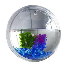 Fish Home Decor Plant Wall Hanging Mount Bubble Aquarium Bowl Fish Tank Home Decor