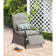Wicker Reclining Patio Chair Mainstays Outdoor Recliner Ashwood Walmart