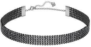 collar necklace black images Lyst swarovski fit mesh choker necklace in black jpeg