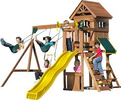 Backyard Discovery Winchester Playhouse Swing N Slide Jamboree Fort Play Swing Set U0026 Reviews Wayfair