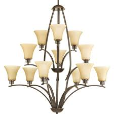 12 Light Chandeliers Progress Lighting Collection 12 Light Antique Bronze
