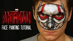 ant man mask u2014 one stroke face painting tutorial youtube