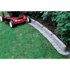 plastic garden edging ideas brick 20 ft bedrocks trimfree resin slate lawn edging gray lawn