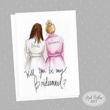will you be my bridesmaid invite bridesmaid pdf printable cards