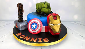 marvel avengers hulk iron man thor u0026 captain america birthday cake