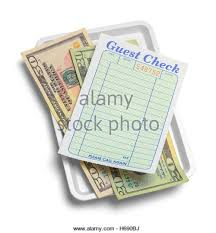 guest check tray receipt tray money blank guest stock photos receipt tray money