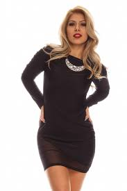 black party dress with sheer sleeve long dresses online