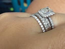 upgrading wedding ring building my wedding ring stack 1ct center radiant cut diamond