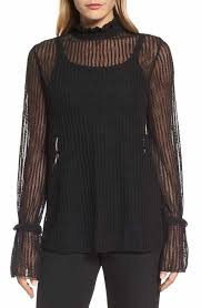 women u0027s black lace tops u0026 tees nordstrom