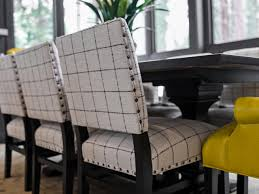 Dining Room Replaceable Upholstery Dining Chairs Of Grey Fabric - Grey fabric dining room chairs
