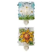 recycled glass flower nightlights sconce handmade recycled