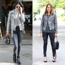 today u0027s everyday fashion gray leather jacket u2014 j u0027s everyday fashion